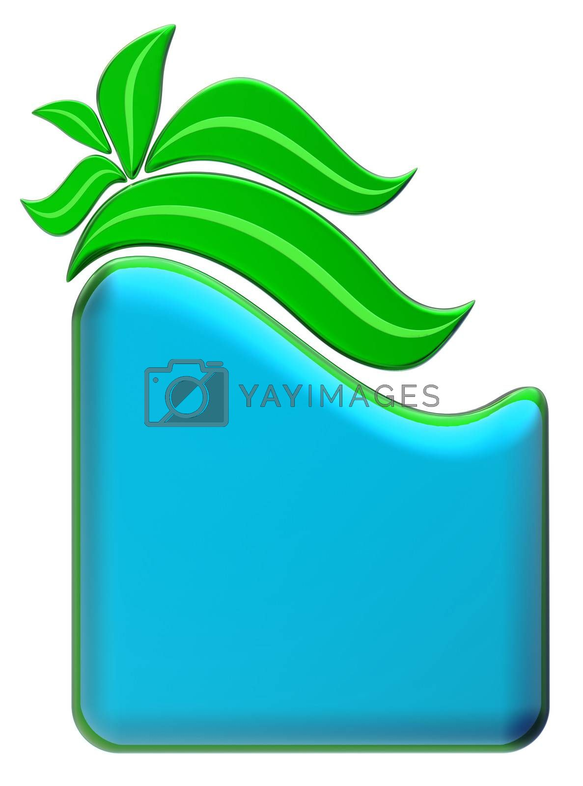 Green and blue form with green leafs
