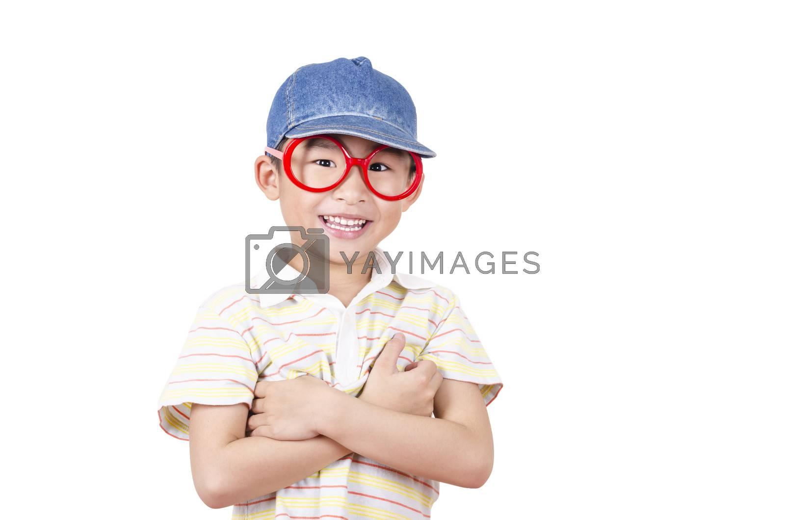 Royalty free image of Cute little boy arm folded by FrankyLiu