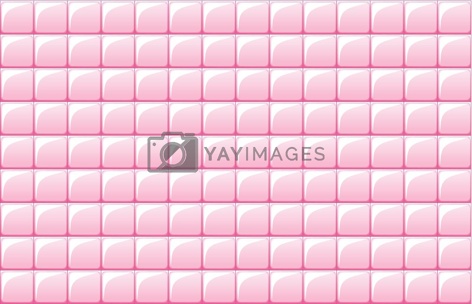 Illustration of the pink tile texture