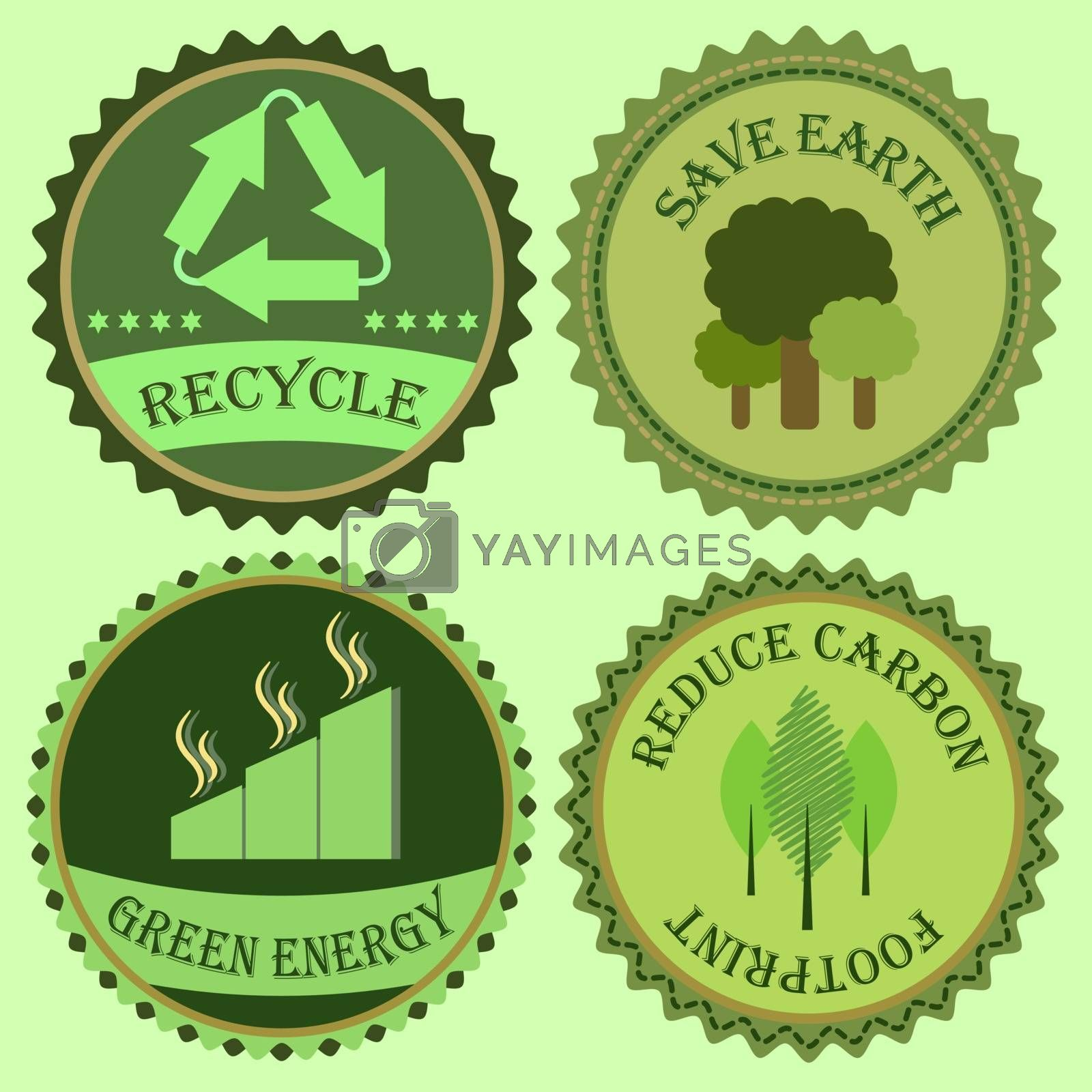 Set of go green collections, stock vector