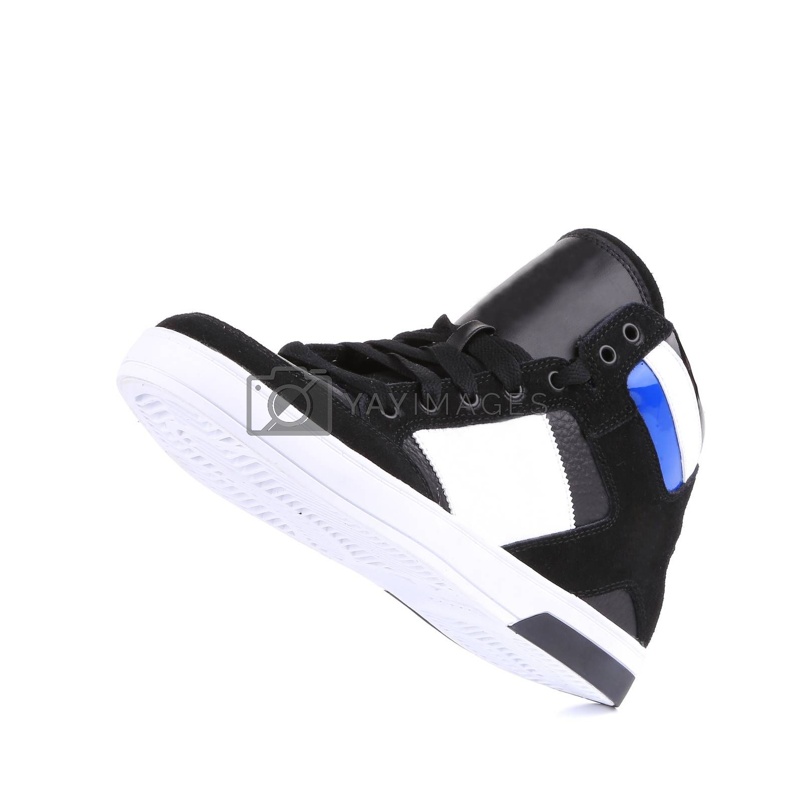 Fashion sneaker. Isolated on a white background.