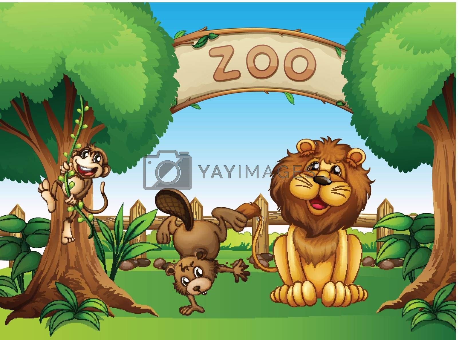 Animals in the zoo by iimages