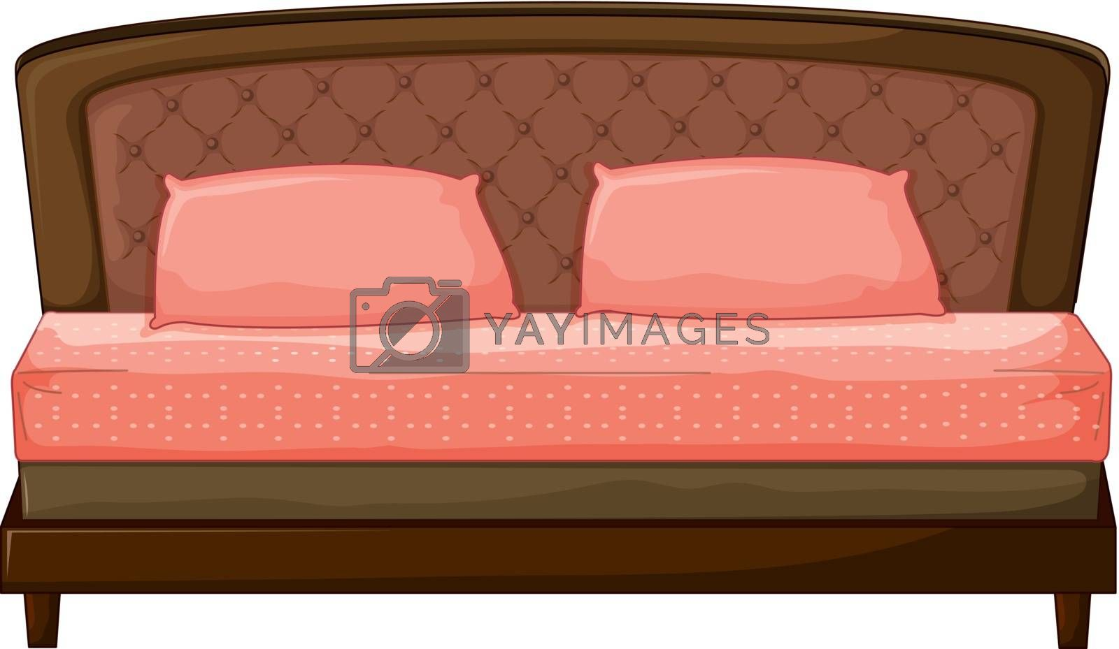 Illustration of a sofa-set on a white background