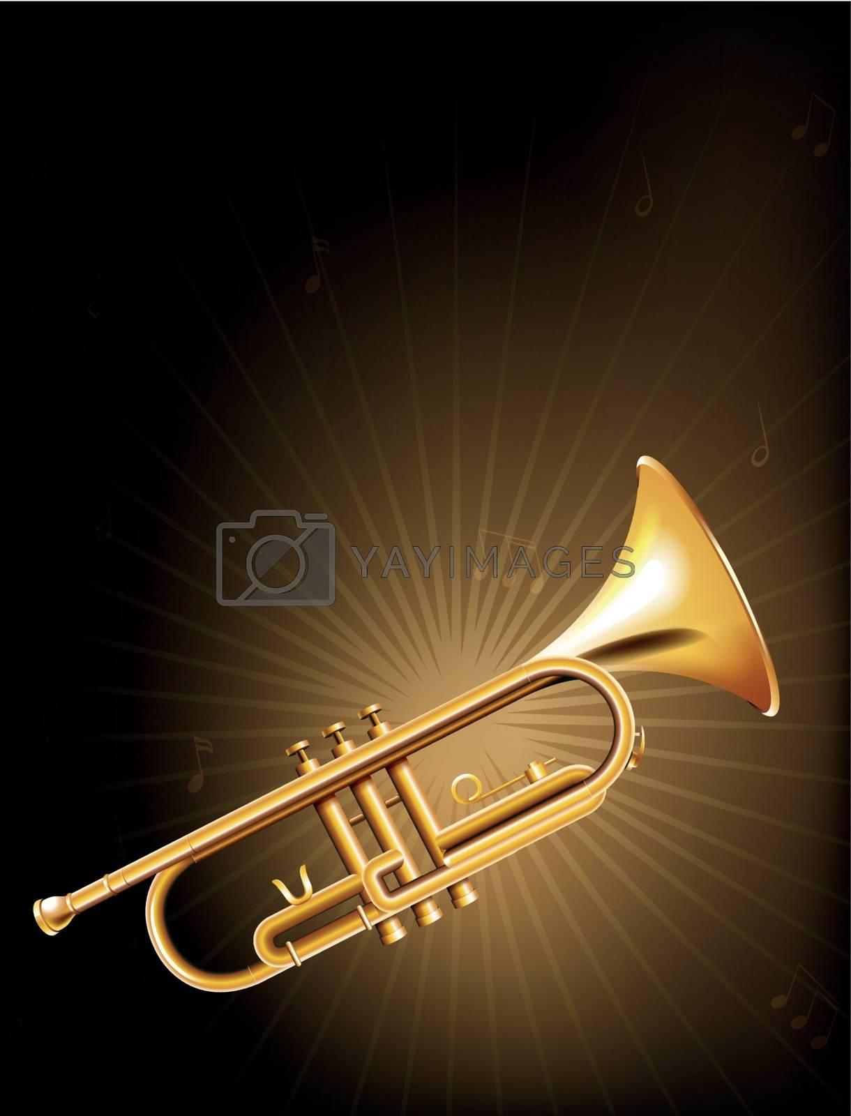 Illustration of a golden trumpet