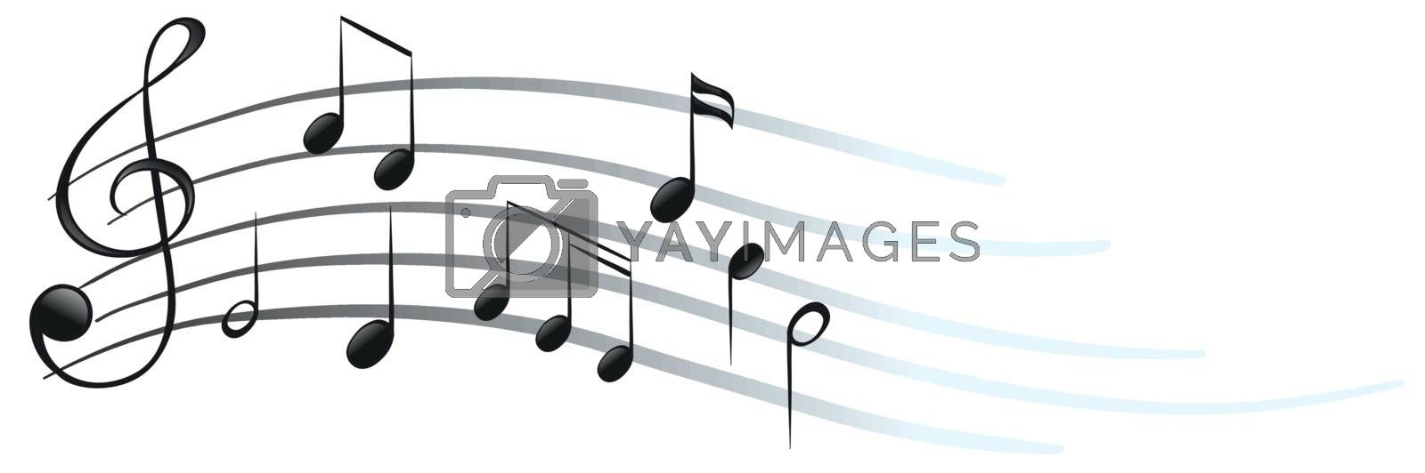 Royalty free image of Musical notes and symbols by iimages