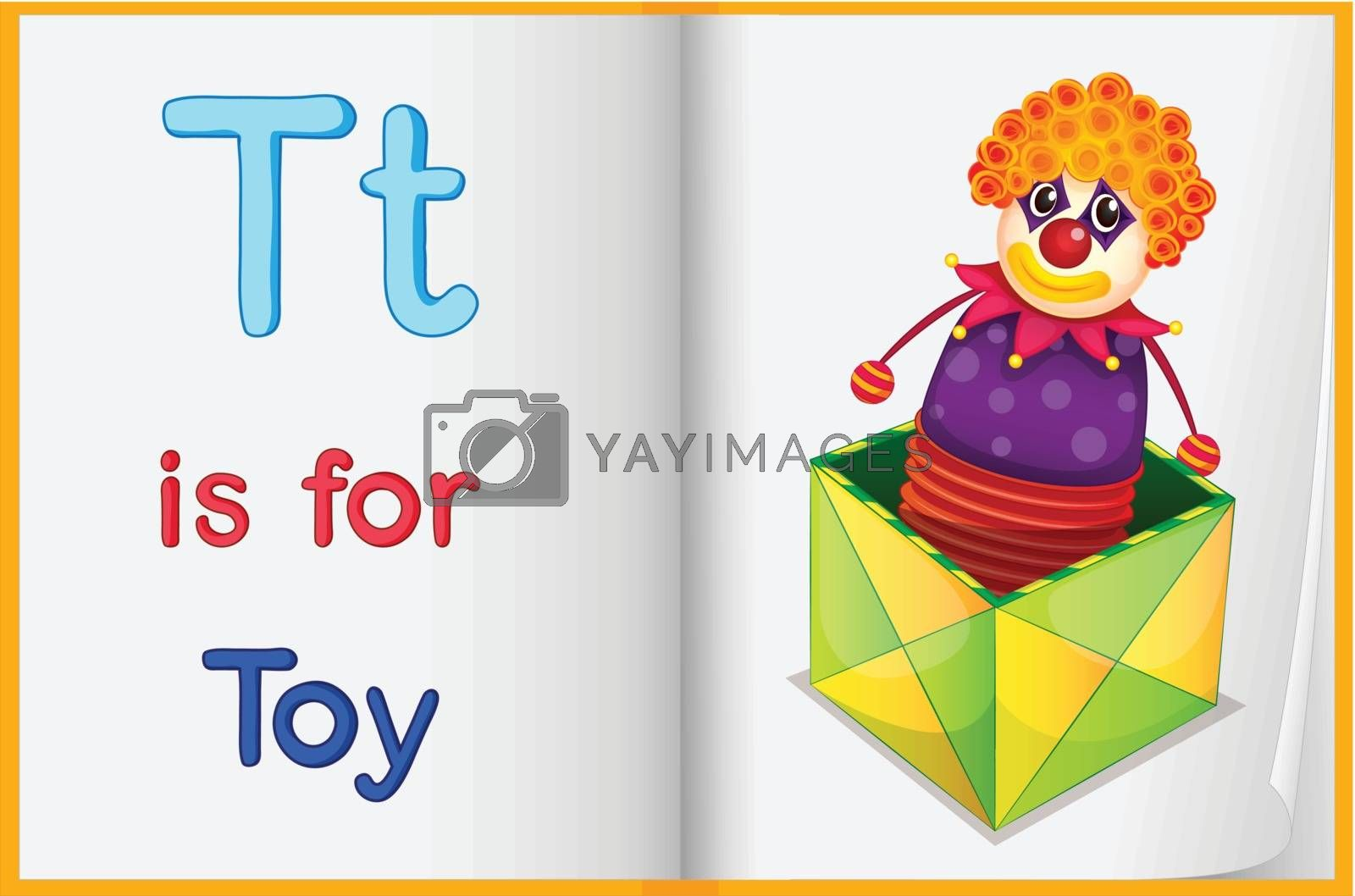 Royalty free image of A picture of a toy in a book by iimages