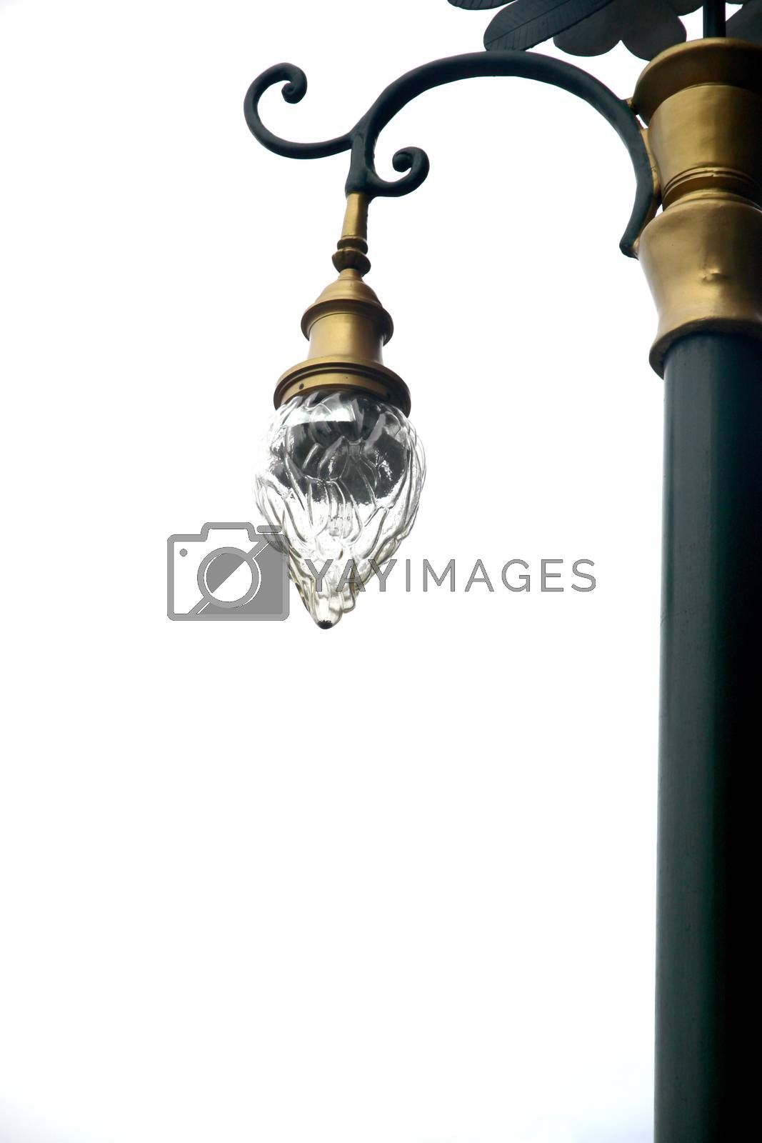 The Picture Street lamp on white background.