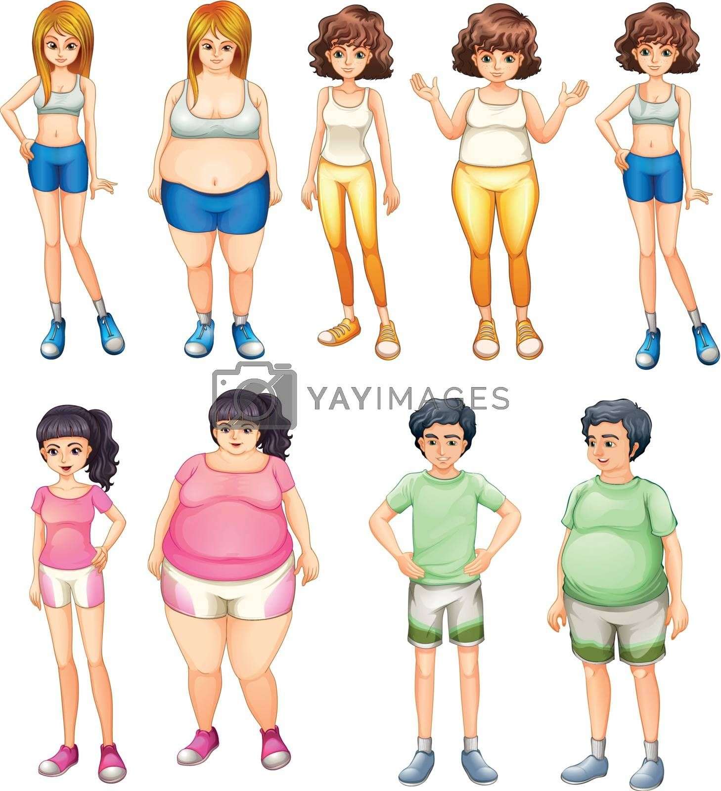 Fat and skinny people by iimages