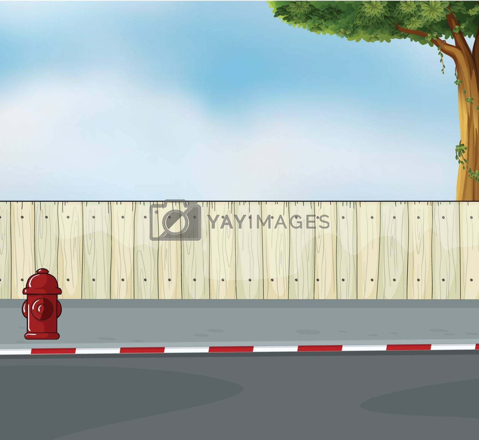 Illustration of a hydrant at the street