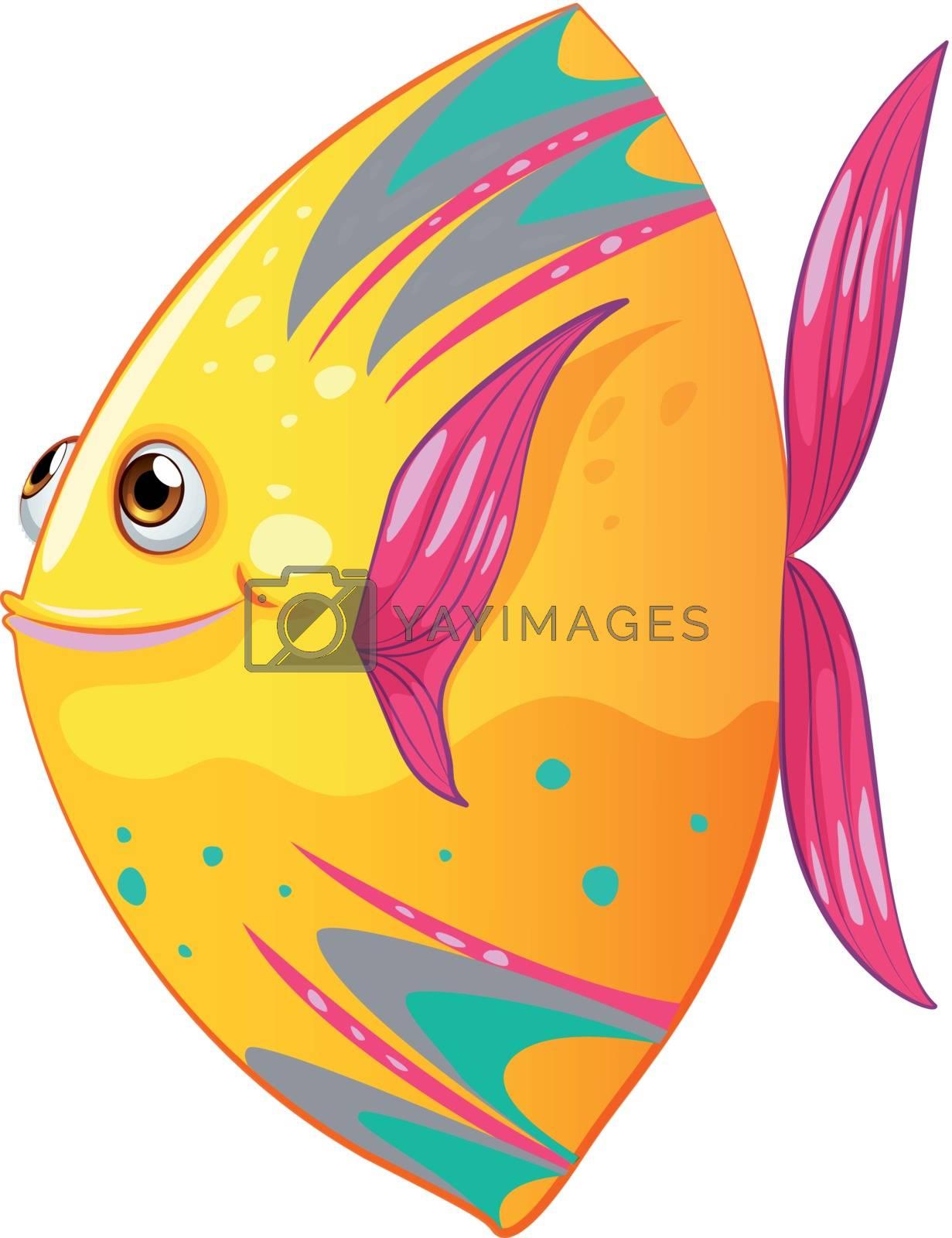 Illustration of a big colorful fish