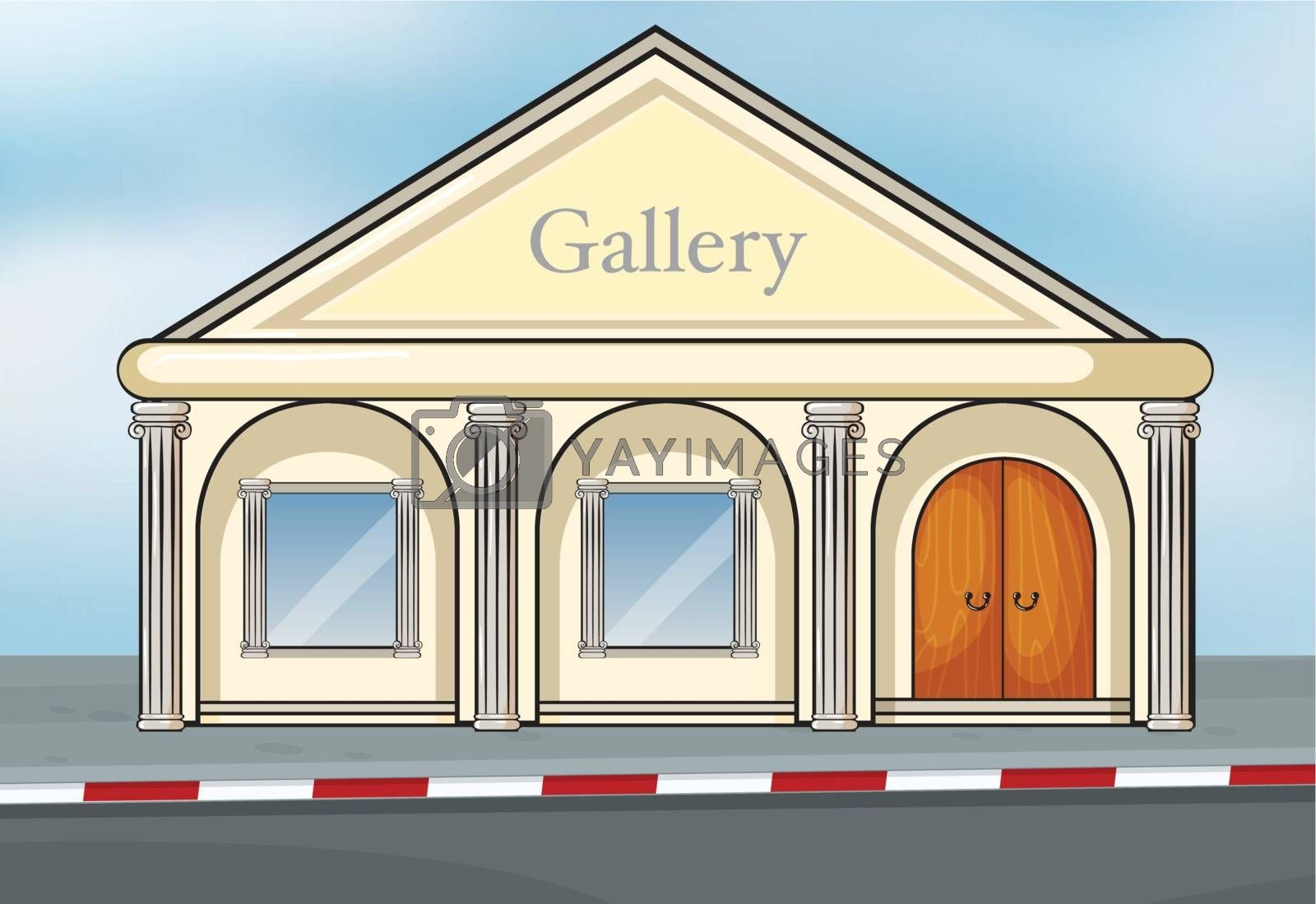 Illustration of a gallery house
