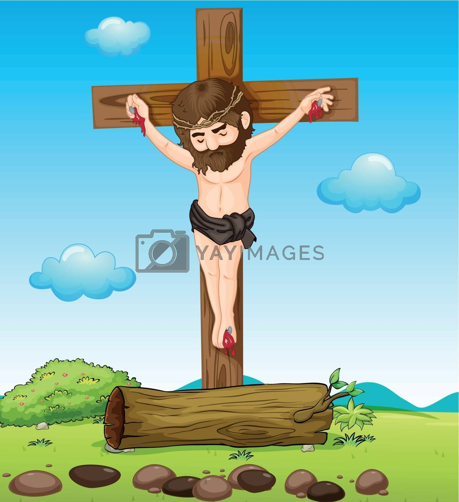 Illustration of Jesus Christ at the cross