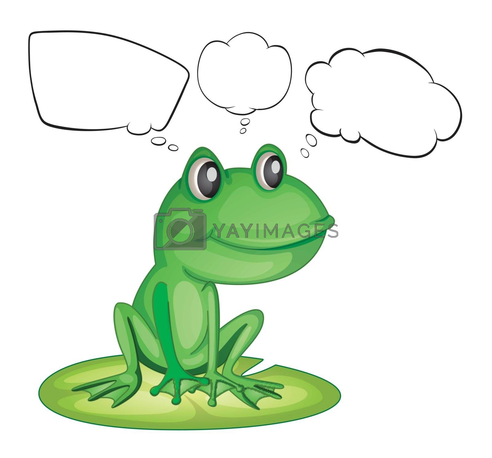 Illustration of an amphibian and the empty callouts on a white background