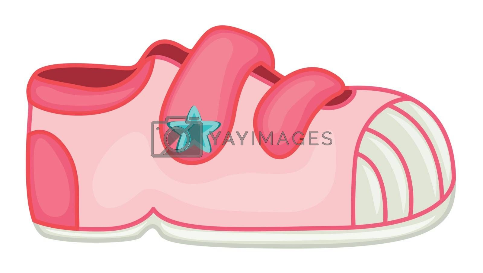 illustration of a shoe on a white background