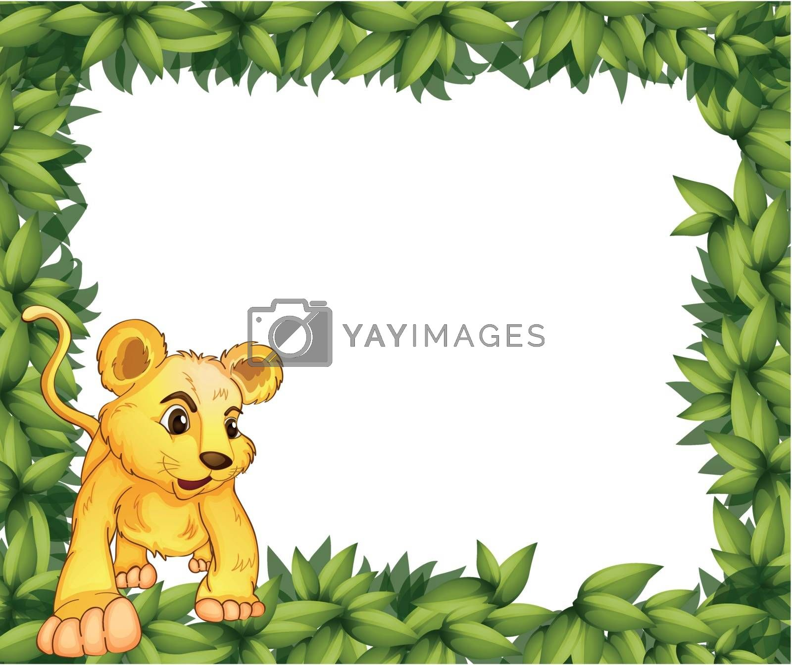 Illustration of a frame with an animal