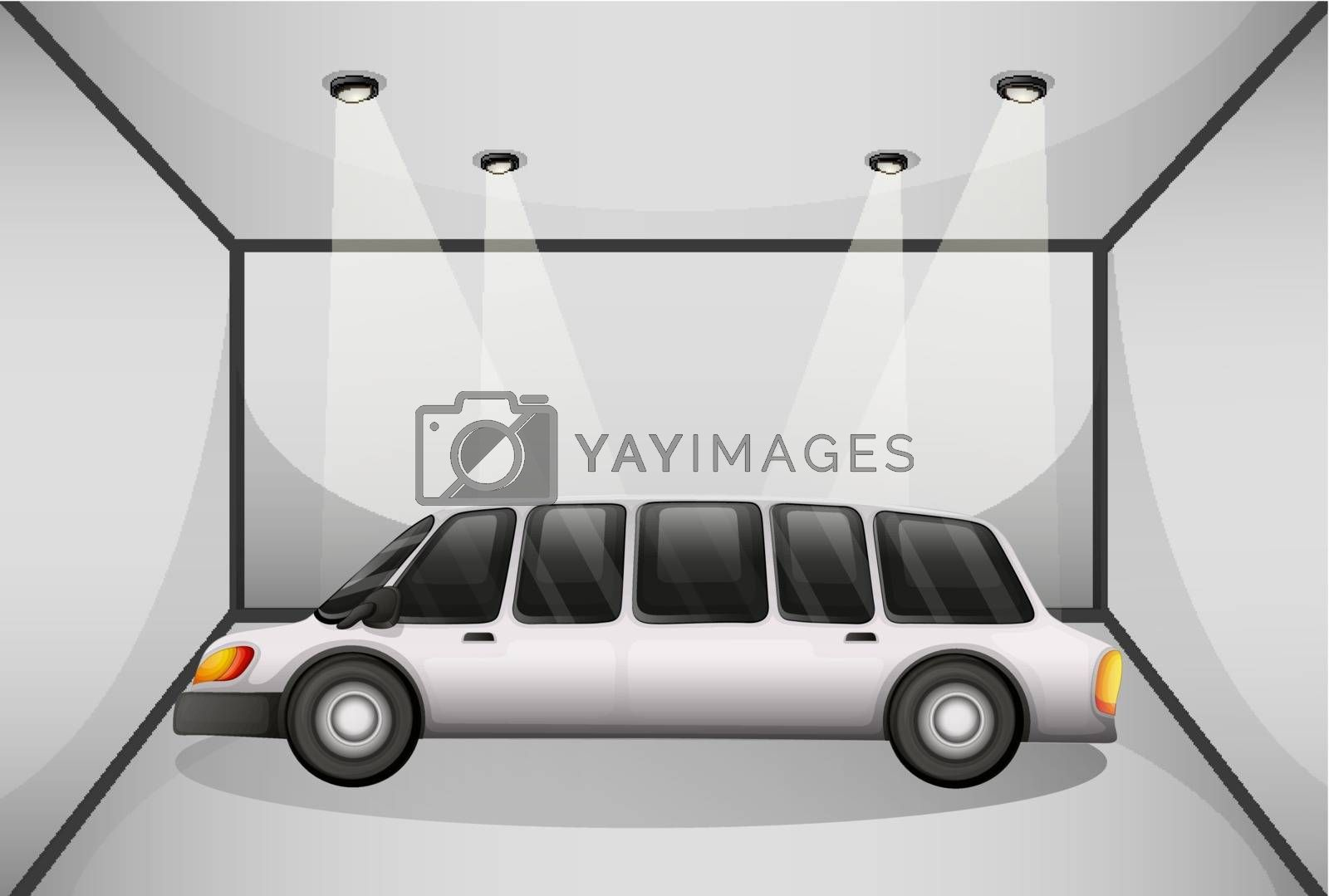 Illustration of a limousine at the garage