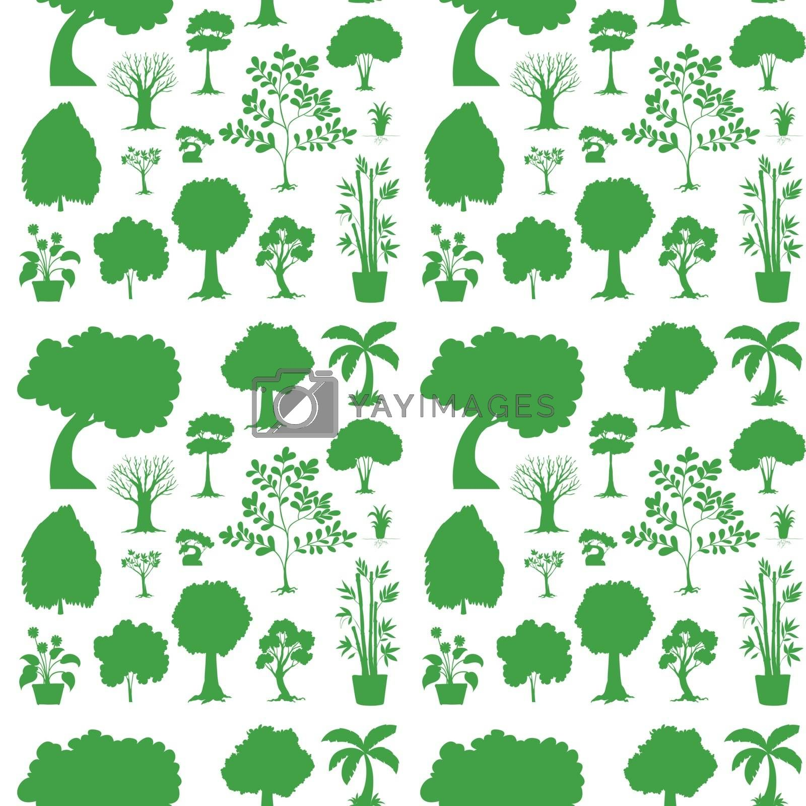 Royalty free image of Green seamless template by iimages