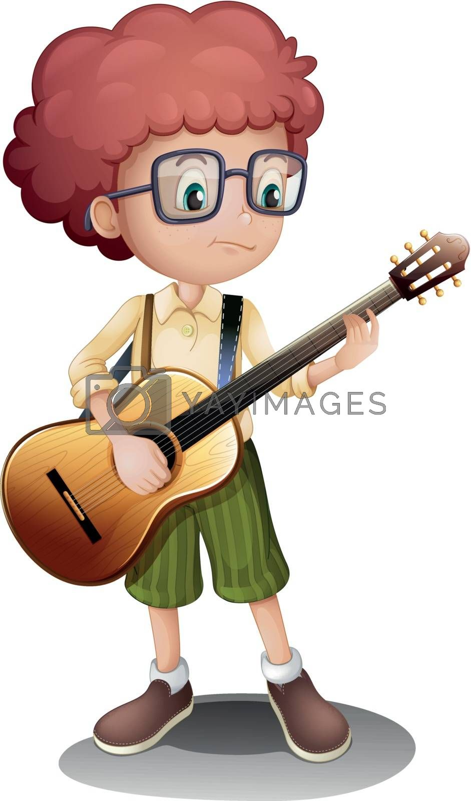Royalty free image of A young guitarist by iimages