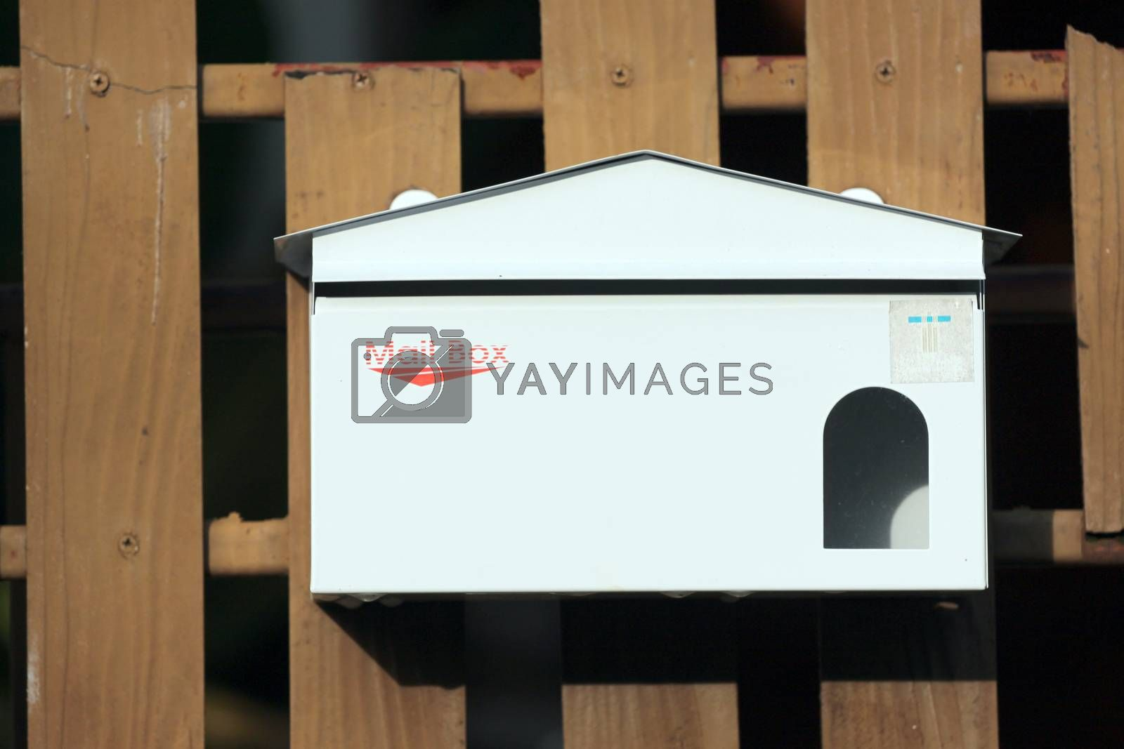 Letter box in the front of the house.