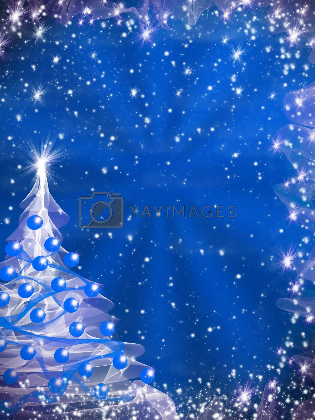 christmas background with tree and lights