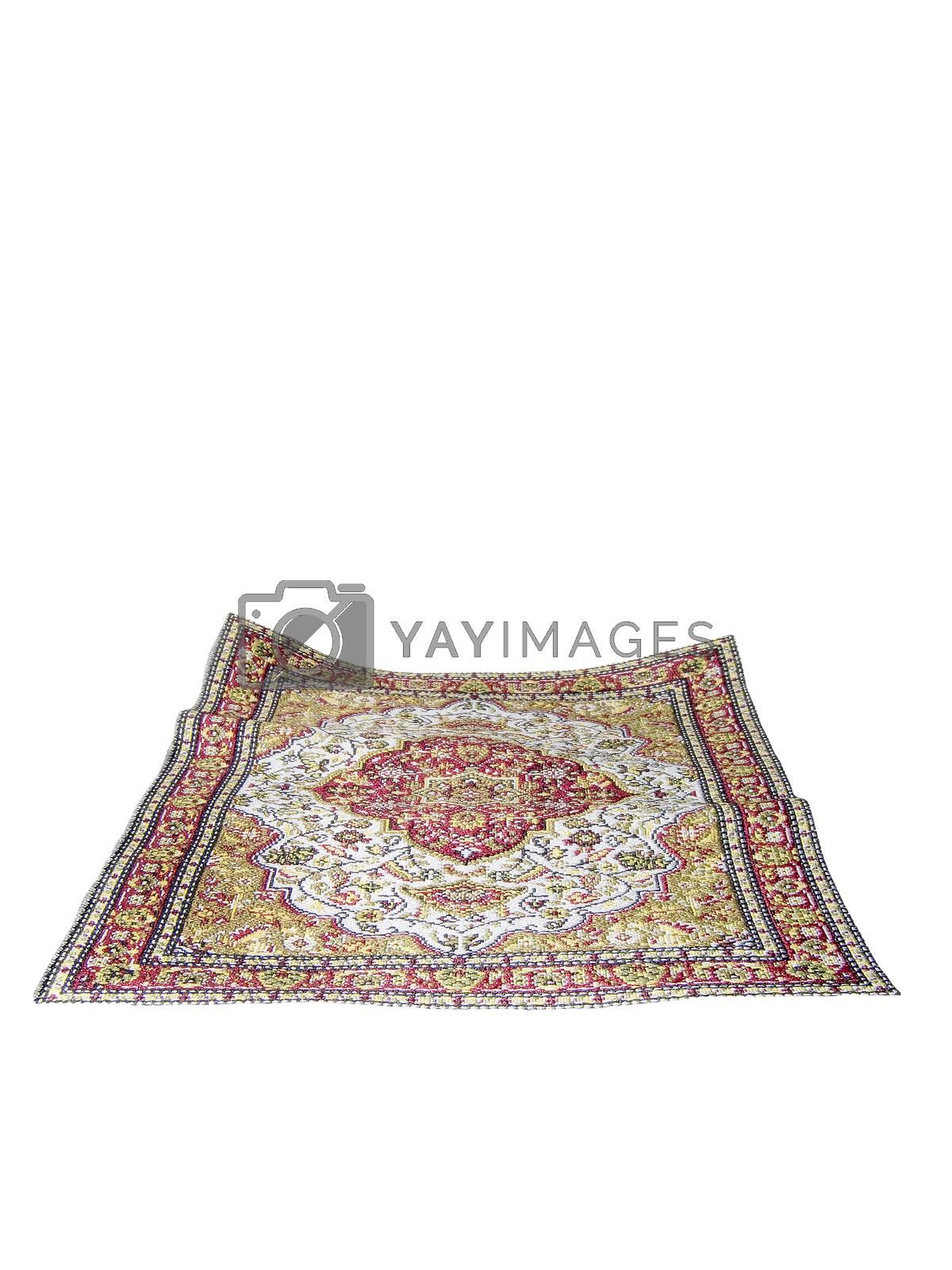 turkish carpet isolated on white background