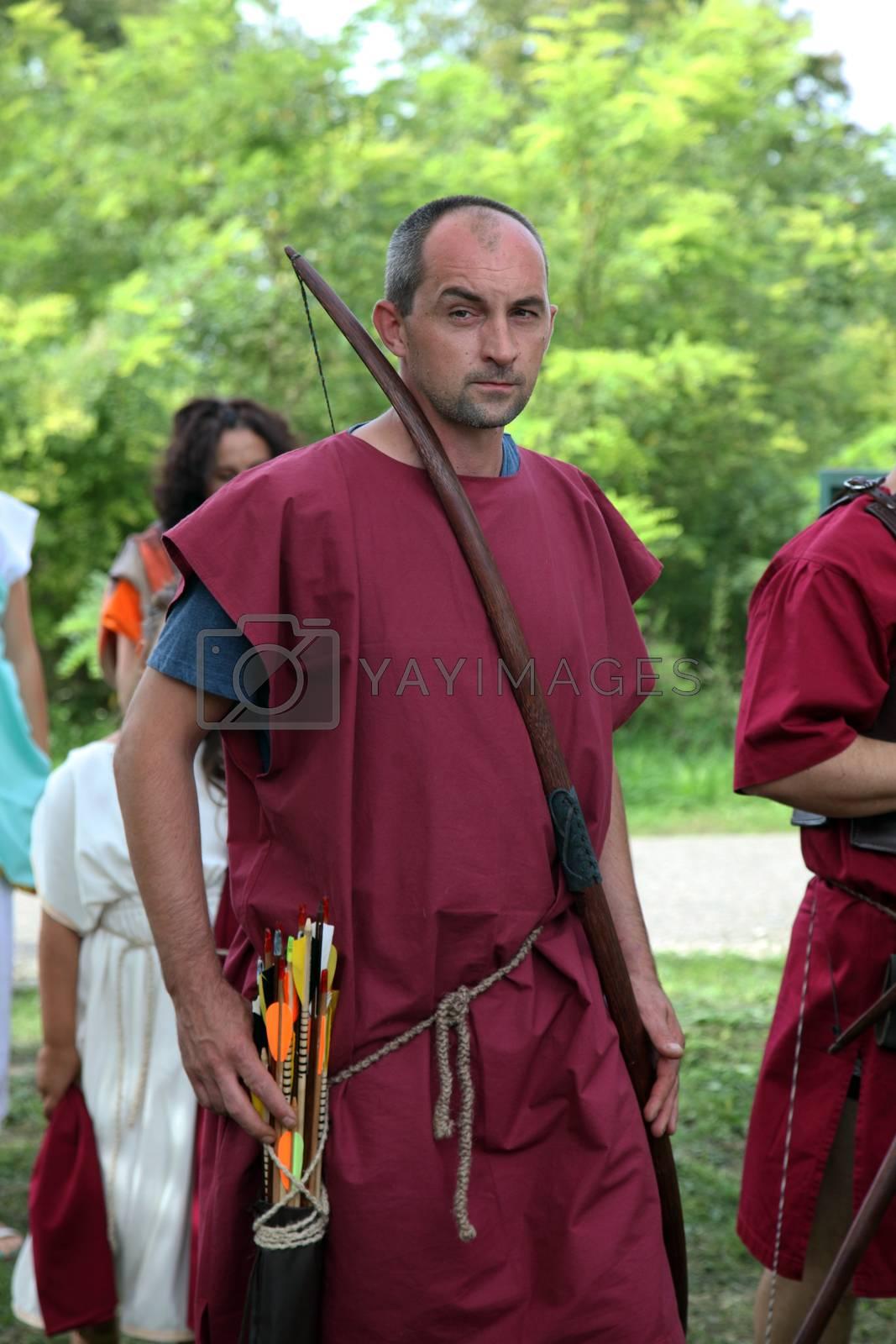 In Andautonija, ancient Roman settlement near Zagreb held Dionysus festivities on Sep 15, 2013 in Zagreb, Croatia.