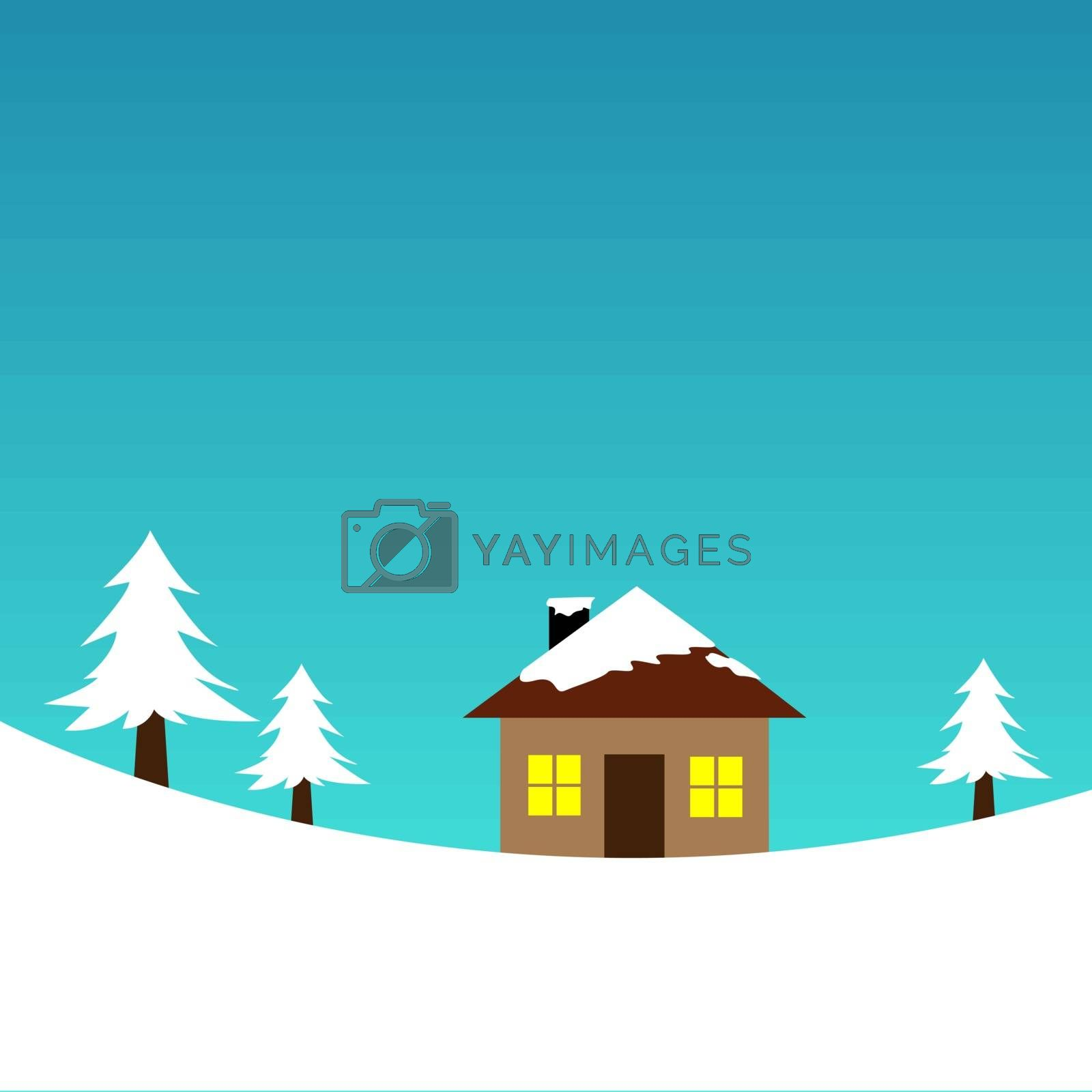 vector illustration of a little house