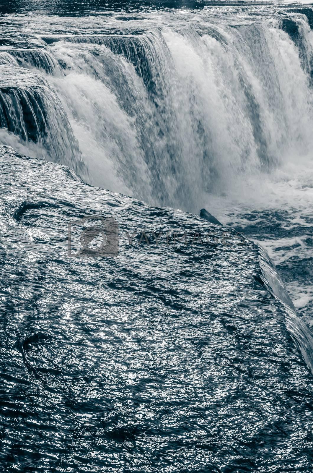 Waterfall close-up, toning