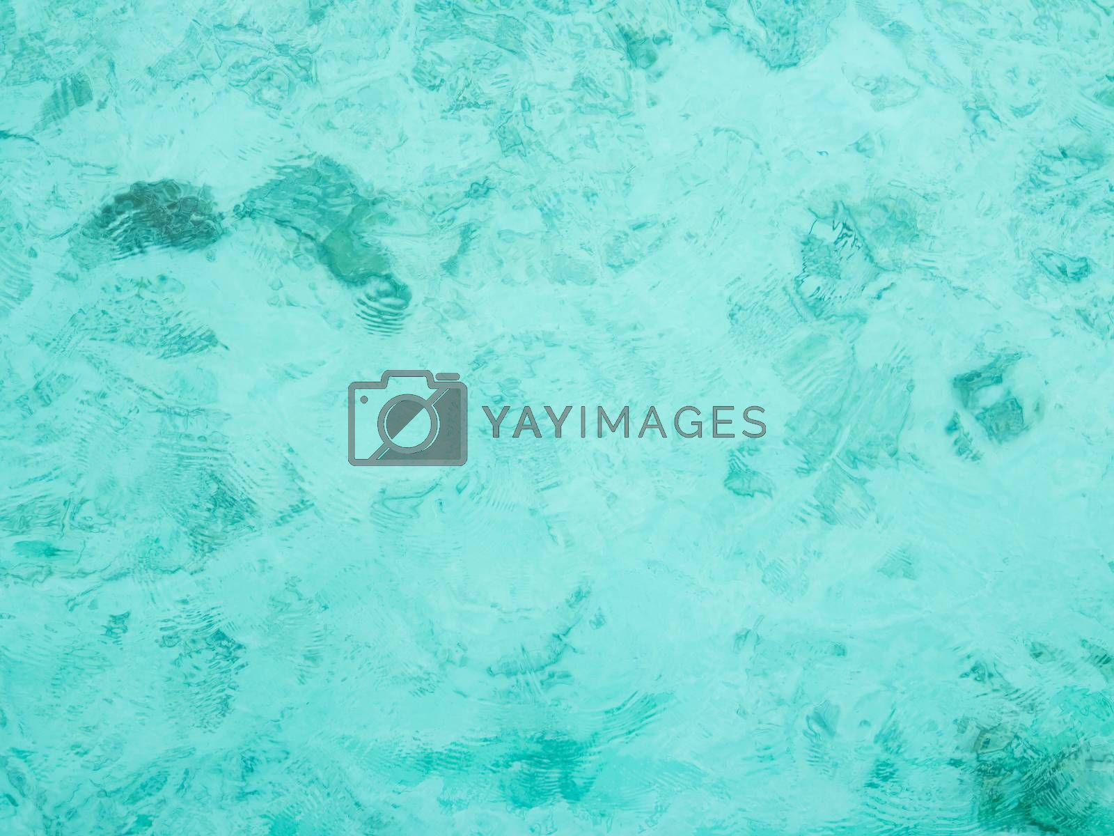 Blue and transparent sea water by get4net