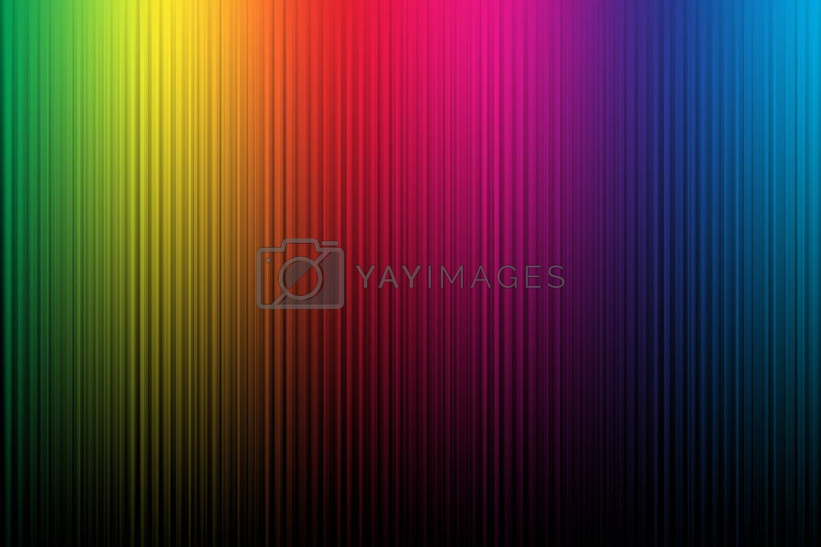 Illustration of colorful stripped background