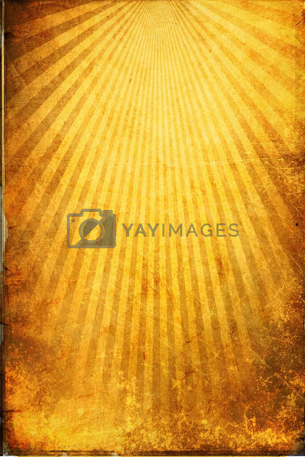 Yellow color sunbeams grunge background