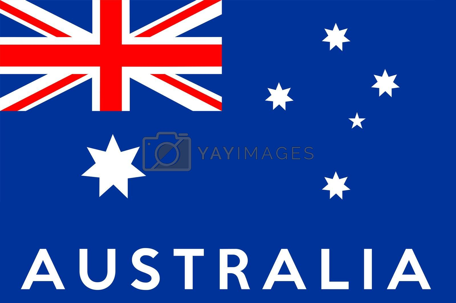 very big size illustration country flag of australia