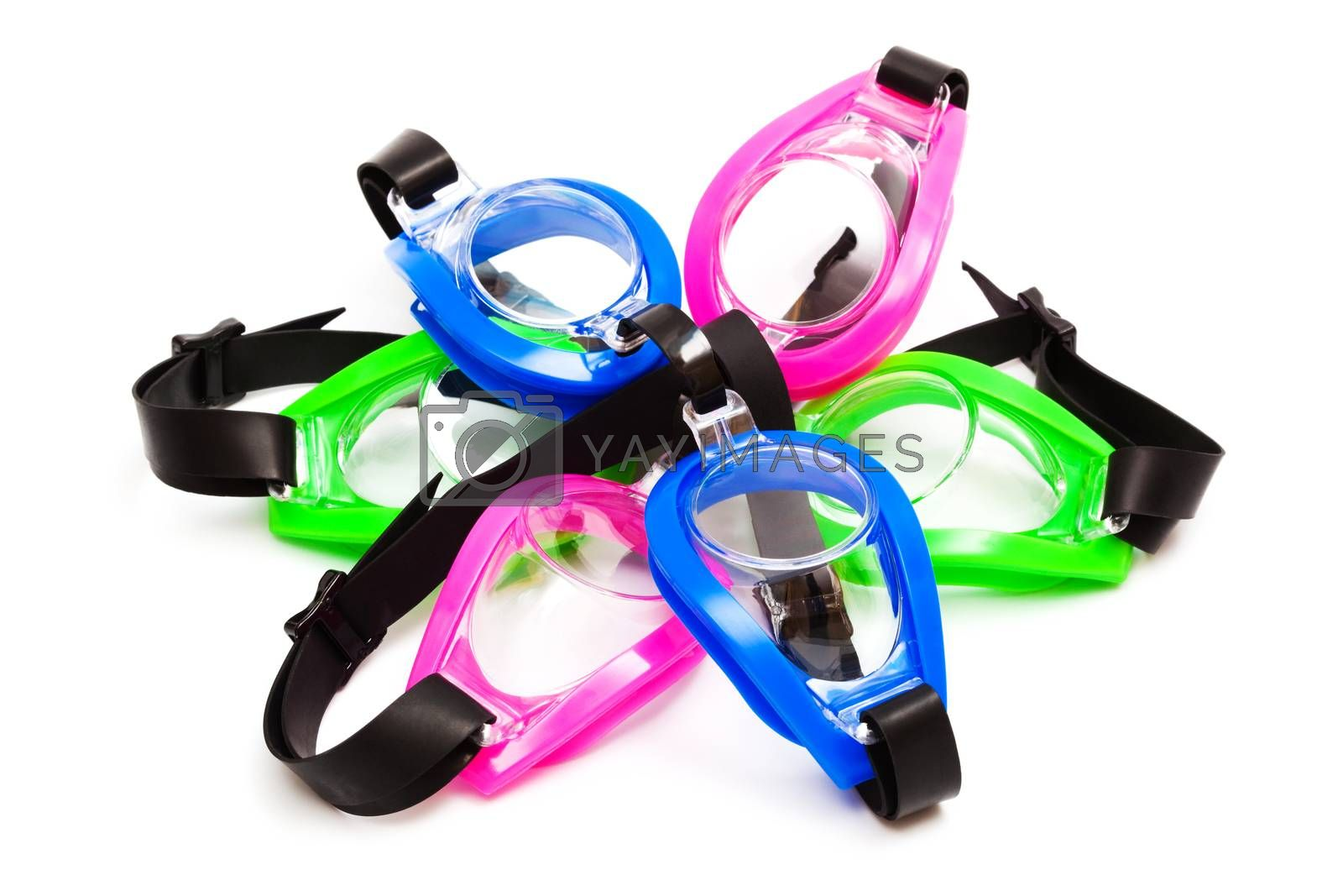 Royalty free image of goggles for swimming by terex
