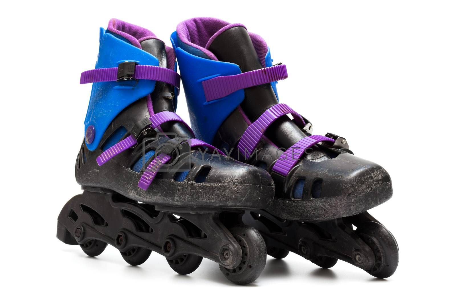 Royalty free image of old roller skates by terex