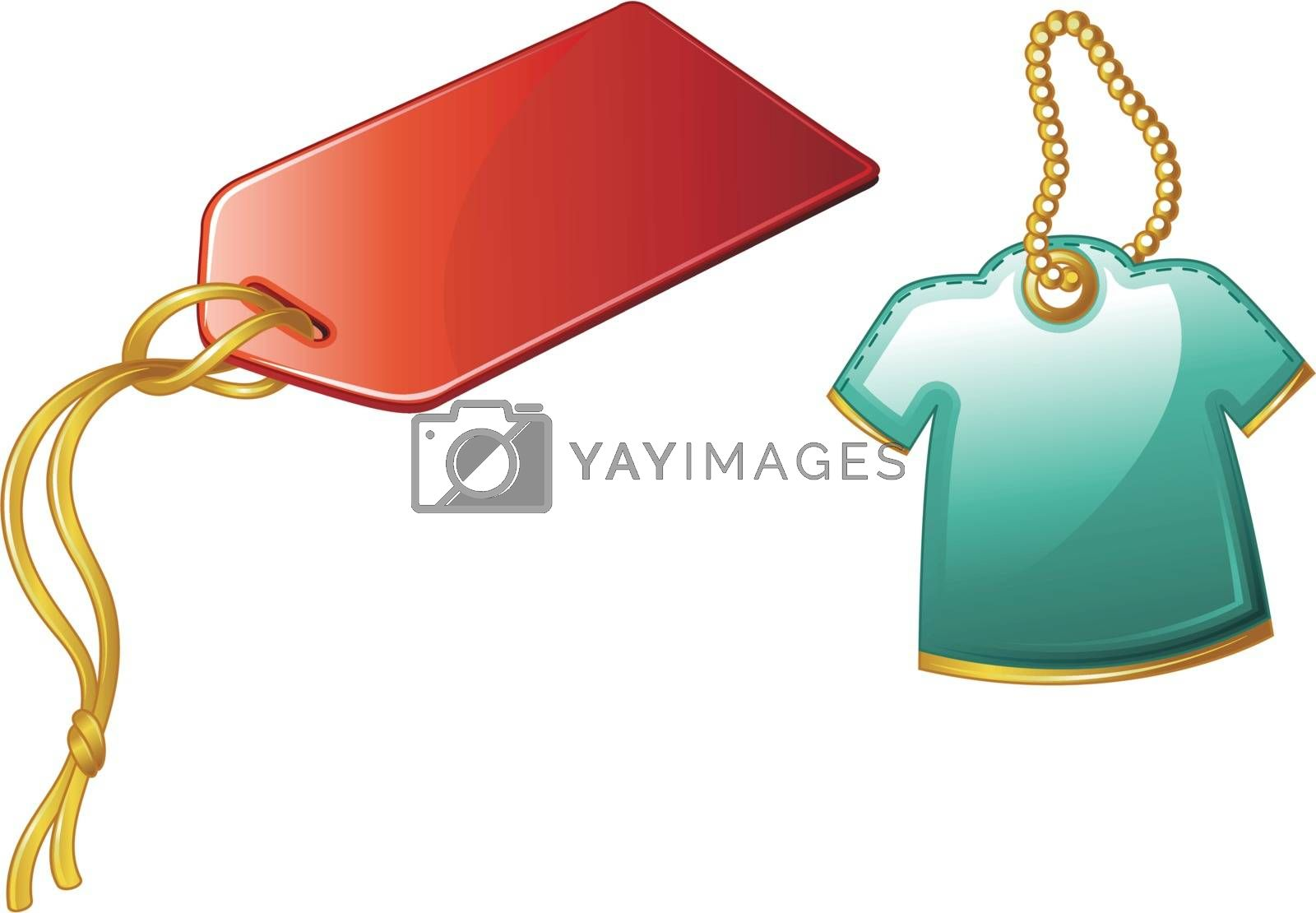 Illustration of price tags on white