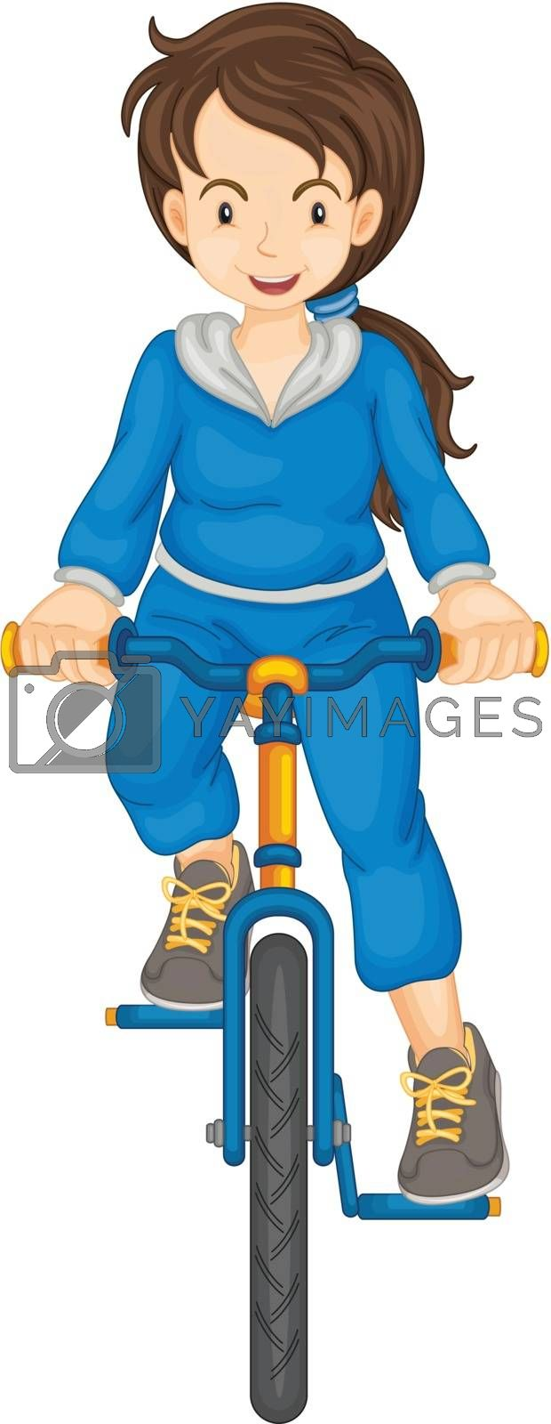 Illustration of a sports girl on white