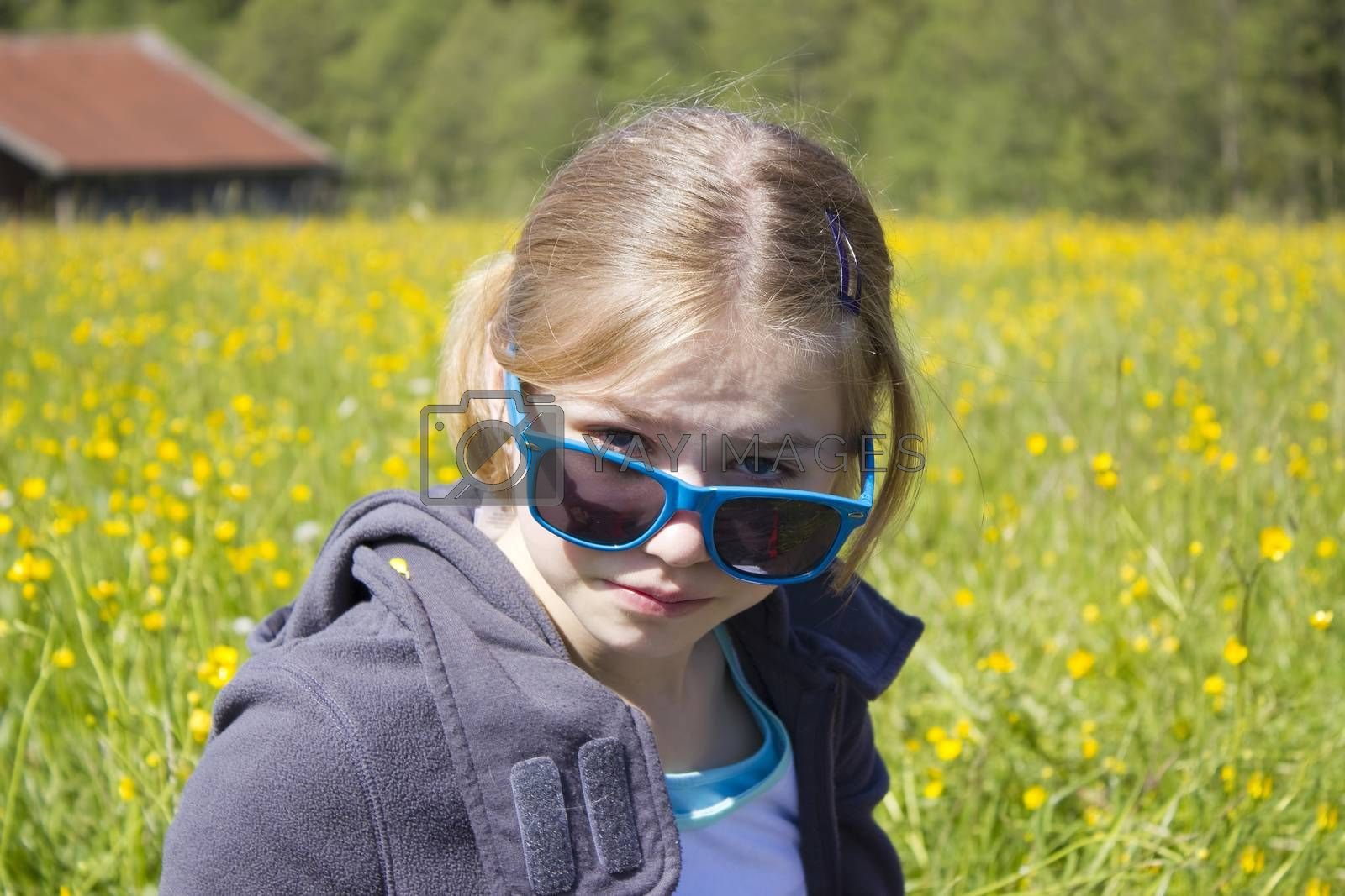 portrait of a child with sunglasses