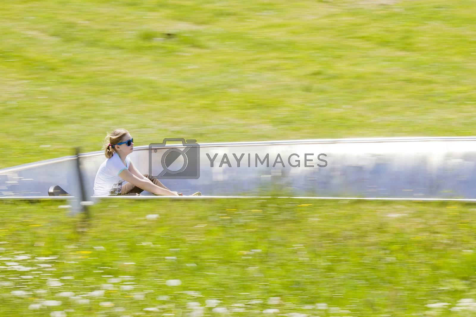 summer toboggan run