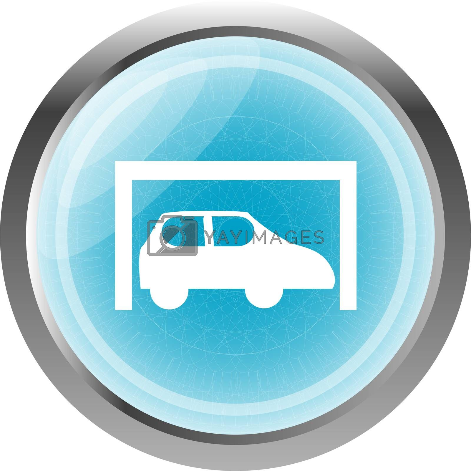 Royalty free image of Car icon button design elements isolated on white by fotoscool