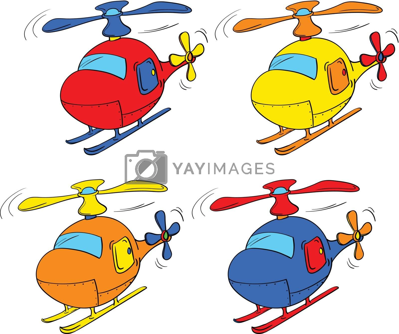 Illustration of a set of choppers