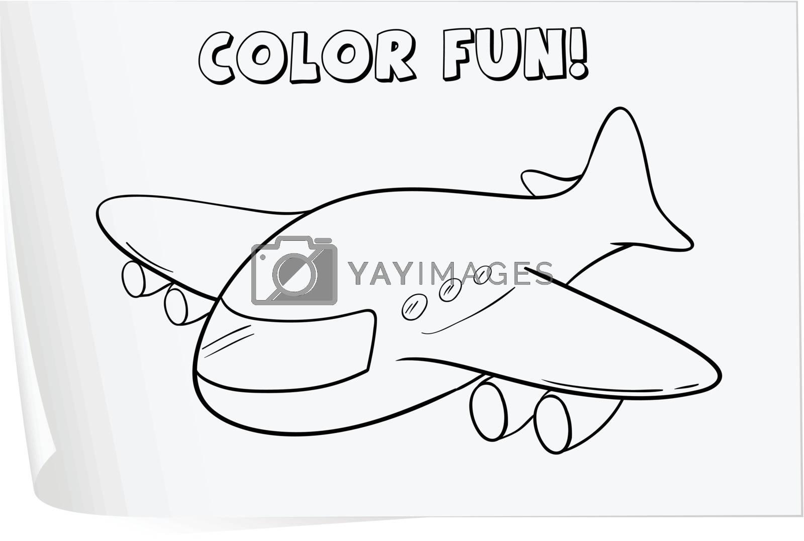Illustration of a colouring worksheet (plane)