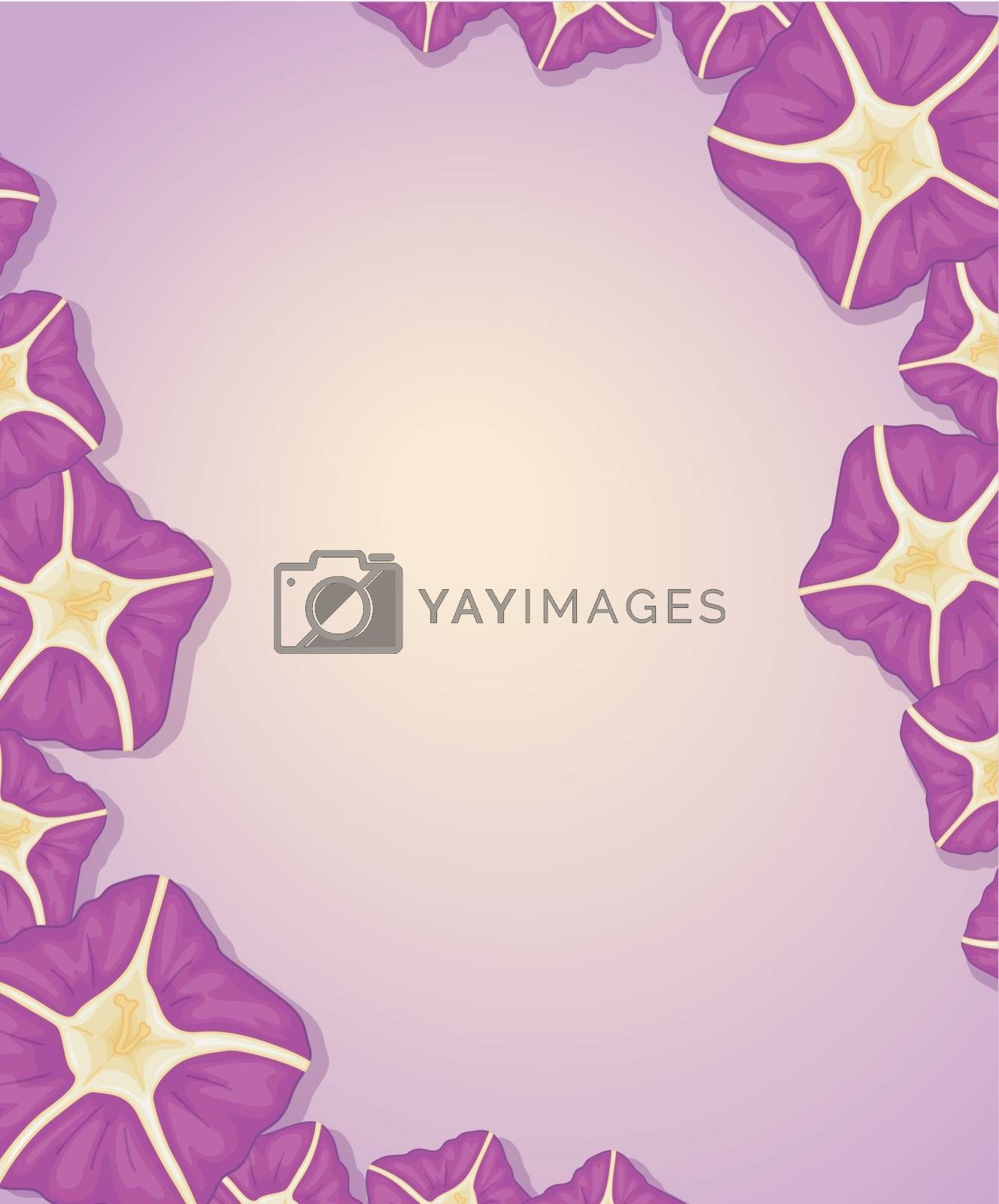Blank template with a flower border