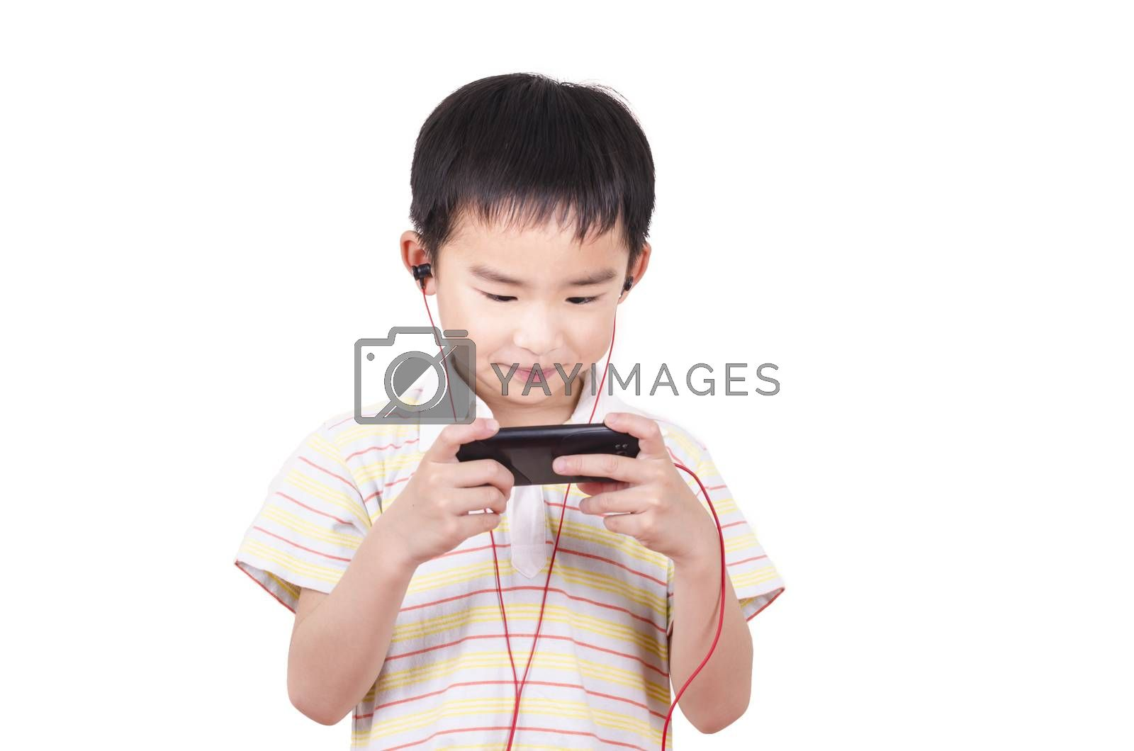 Royalty free image of Cute children listen to music by FrankyLiu