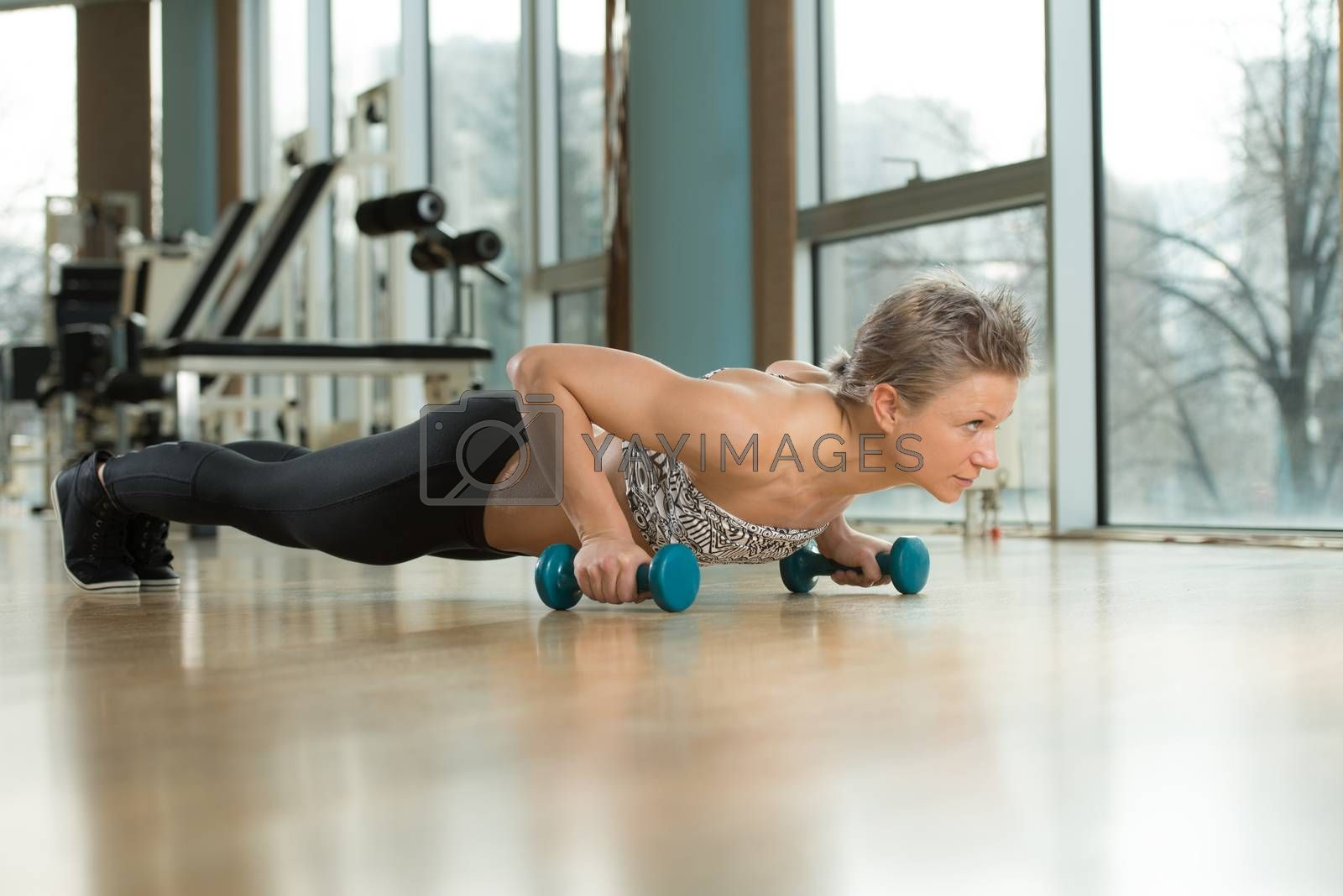 Royalty free image of Push-Ups Lower Position by JalePhoto