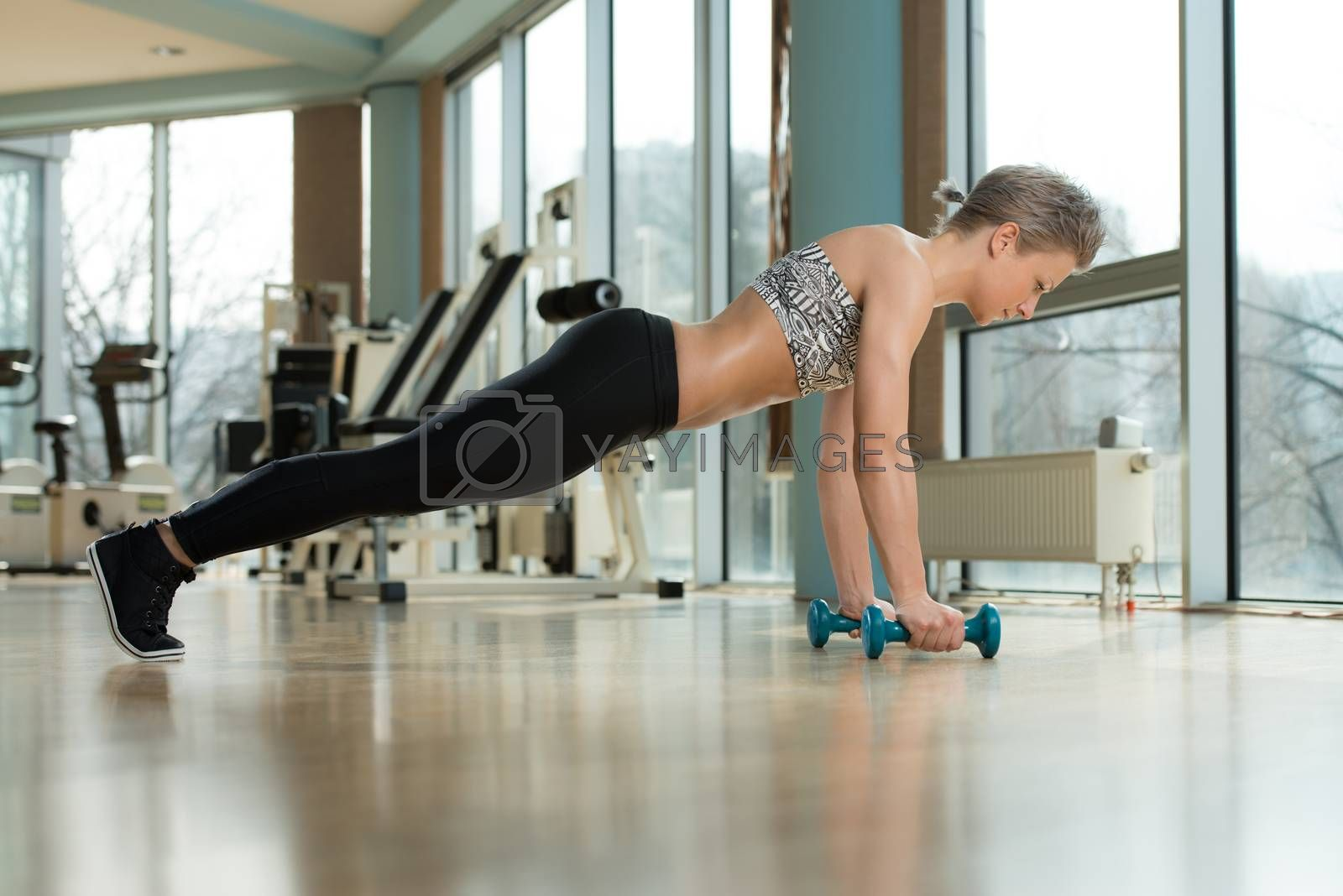 Royalty free image of Push-Ups Upper Position by JalePhoto