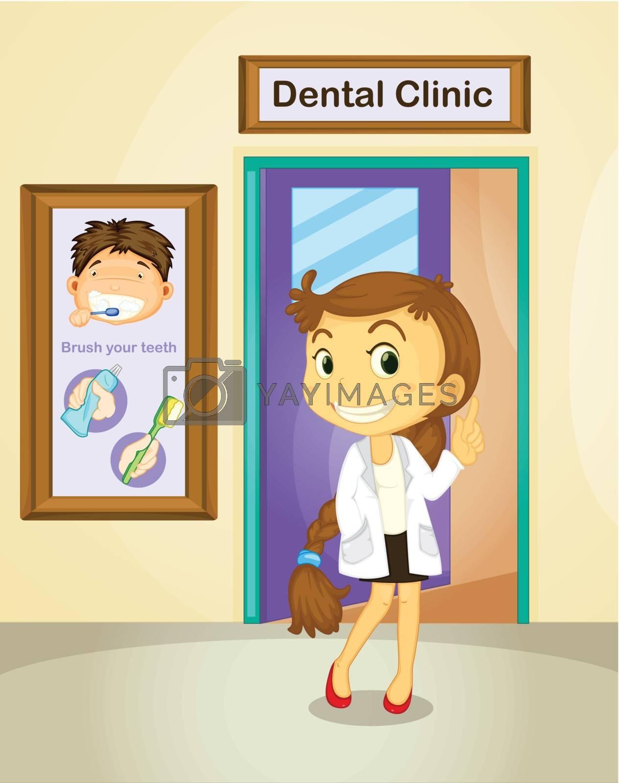 Illustration of a female dentist