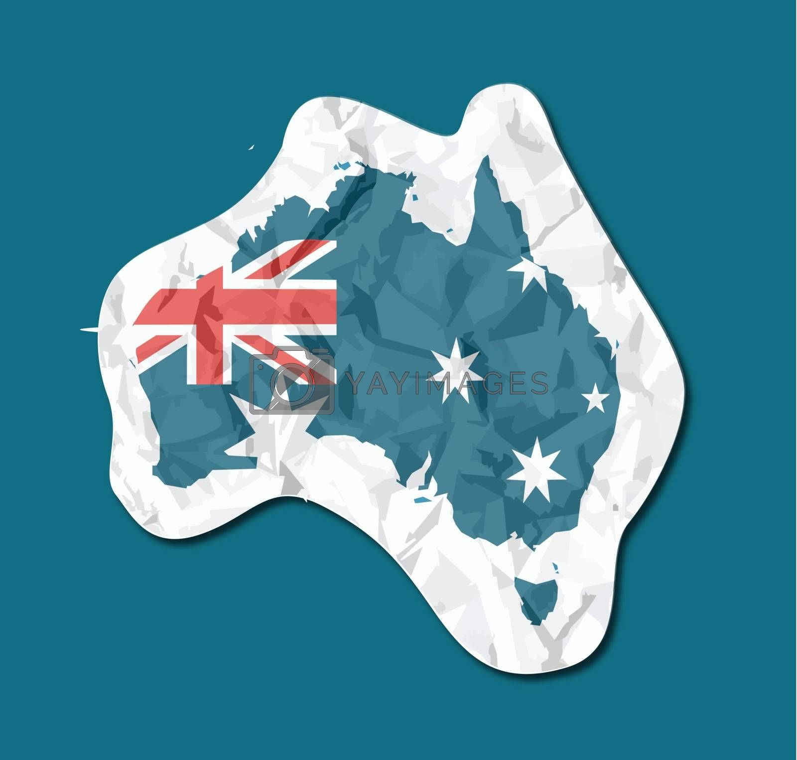 Australia flag paper tag