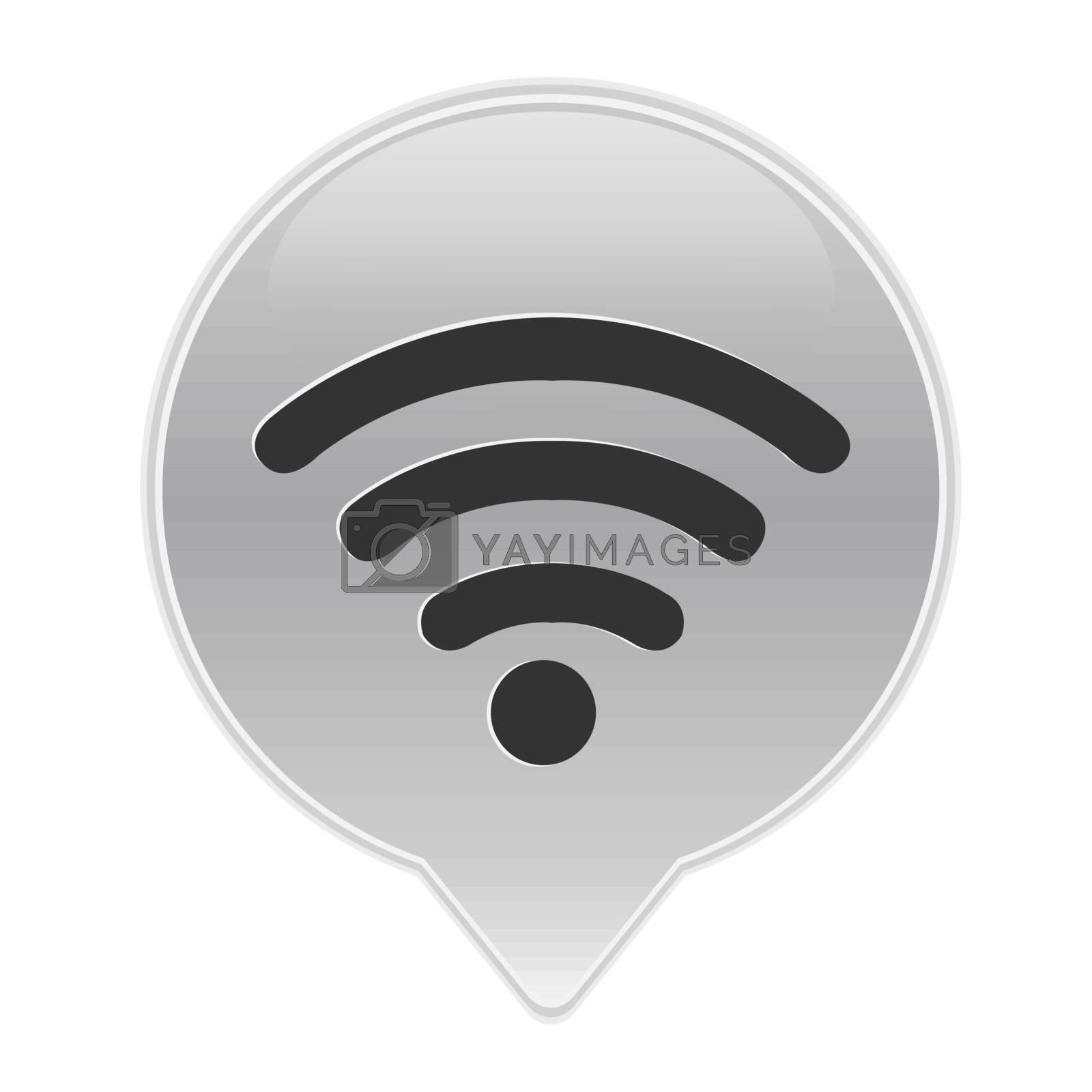 Grey Wifi Symbol, With Gradient Mesh, Vector Illustration