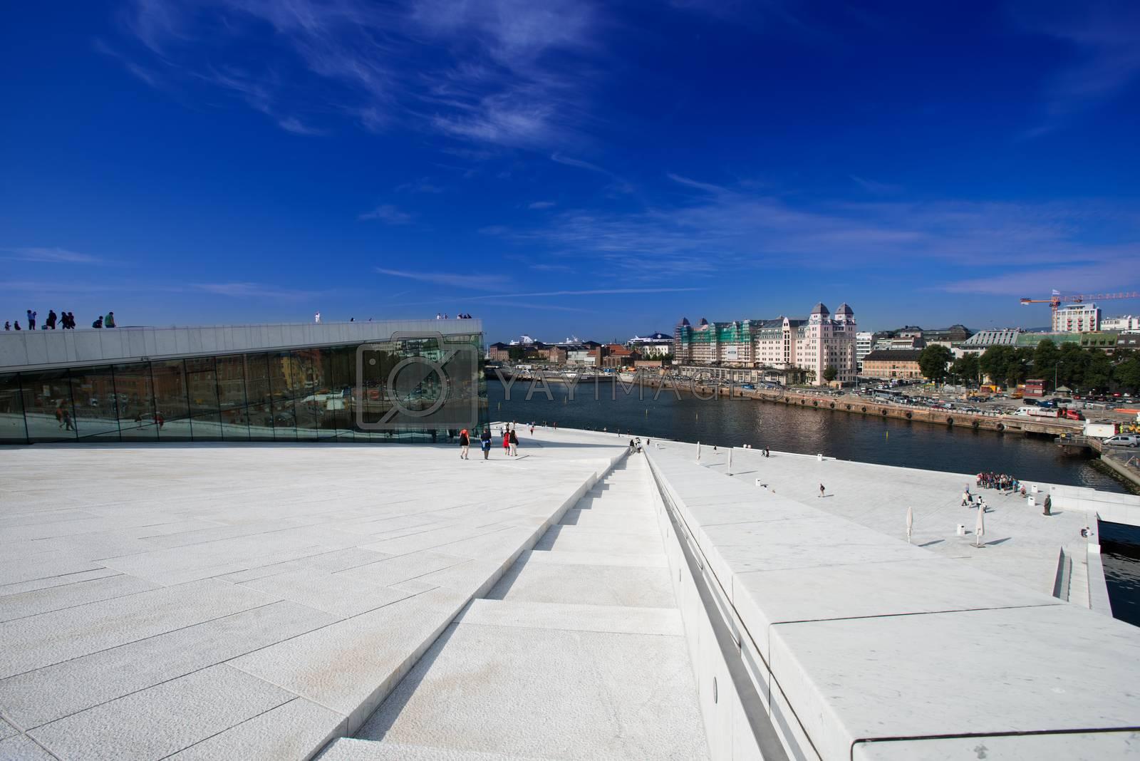 Oslo Opera House panorama by Nanisimova