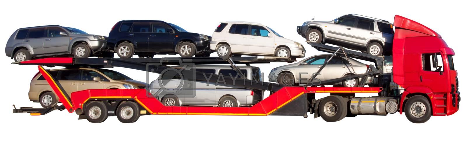 red car hauler by zkruger